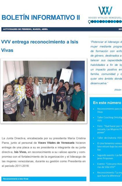 II Boletin Informativo VVV